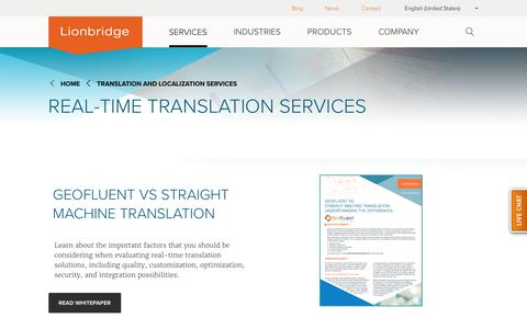 Real Time Translation Services | Lionbridge