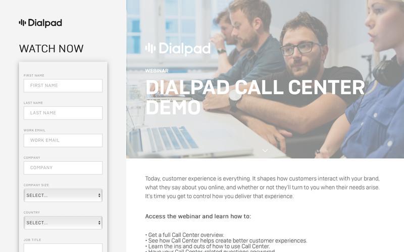 Call Center On Demand Webinar | Dialpad
