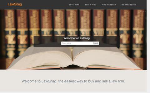 Screenshot of Home Page lawsnag.com - LawSnag - captured Oct. 2, 2014