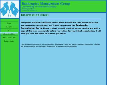 Screenshot of FAQ Page bmgpllc.com - Contact Us - captured Oct. 5, 2014