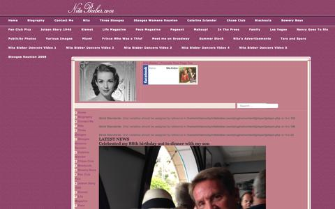 Screenshot of Home Page nitabieber.com - Welcome to the Frontpage - captured Oct. 11, 2015