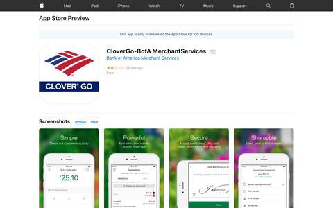 CloverGo-BofA MerchantServices on the AppStore
