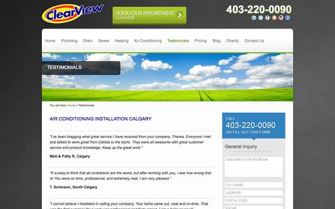 Calgary Plumber Testimonials | HVAC Company Reviews Calgary | ClearView Plumbing