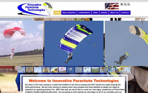 Screenshot of Home Page innovativeparachute.com - Innovative Parachute Technologies - captured Feb. 11, 2016
