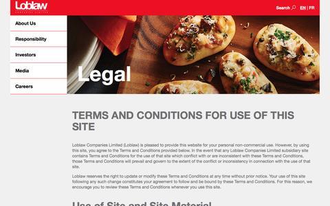 Loblaw Companies Limited - Legal