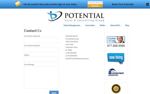 Potential Sales Group | Contact