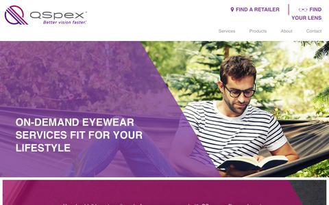 Screenshot of Services Page qspex.com - Our Services | QSpex - captured July 12, 2018