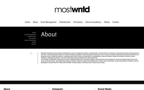 Screenshot of About Page mostwntd.com - MostWntd. — About - captured Oct. 26, 2014
