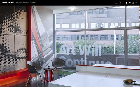 Screenshot of Home Page gravillisinc.com - A Brand Design Agency     | Gravillis Inc. - captured Nov. 5, 2018