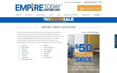 Screenshot of Locations Page empiretoday.com - Empire Today Locations | Empire Today - captured July 18, 2018