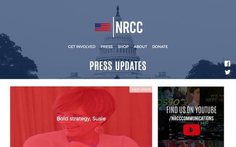 Screenshot of Press Page nrcc.org - Press Updates - NRCC - captured Oct. 18, 2017