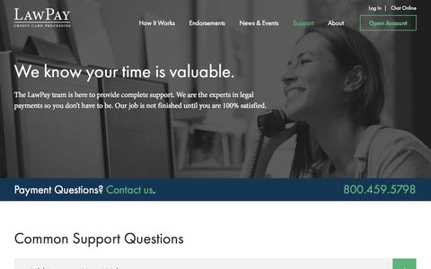 Screenshot of Support Page lawpay.com - Customer Support | LawPay | Legal Credit Card Processing  | LawPay - captured Oct. 28, 2014