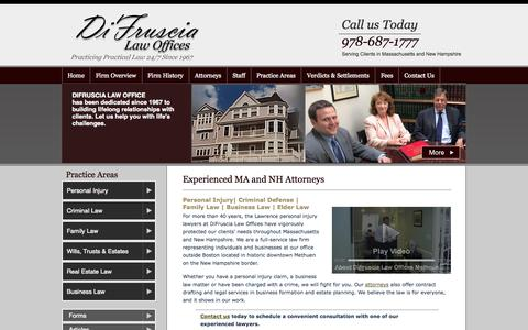 Screenshot of Blog difruscialaw.com - Lawrence Personal Injury Lawyer | Methuen Criminal Defense Attorney | Haverhill MA Car Accidents - captured Oct. 5, 2014