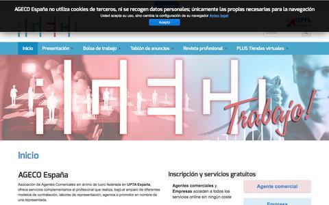 Screenshot of Home Page ageco.pro - AGECO España - Inicio - captured Feb. 4, 2016