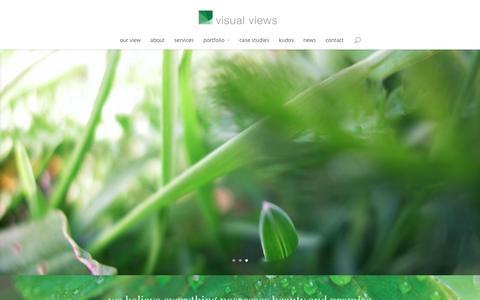 Screenshot of Home Page visualviews.com - home - visual views - captured Feb. 24, 2016