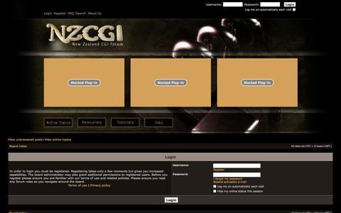 Screenshot of Login Page nzcgi.com - NZCGI Forum - captured Nov. 5, 2014