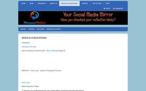 Screenshot of Press Page irespectonline.com - Media & Publications - iRespectOnline - captured Sept. 30, 2014