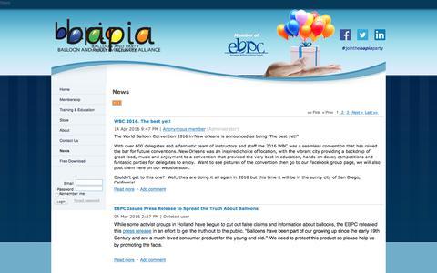 Screenshot of Press Page bapiaonline.com - BAPIA Ltd - News - captured Sept. 19, 2017