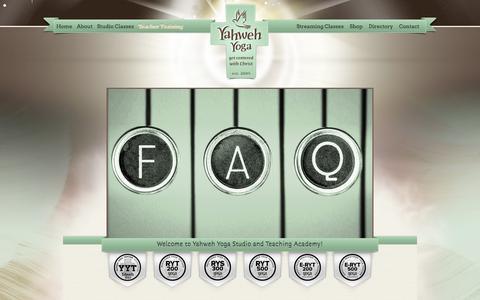 Screenshot of FAQ Page yahwehyoga.com - FAQ  Yahweh Yoga - captured Dec. 21, 2015