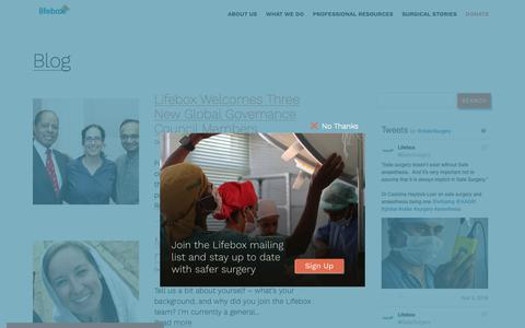 Screenshot of Blog lifebox.org - Blog Archives - Lifebox - captured Nov. 5, 2018