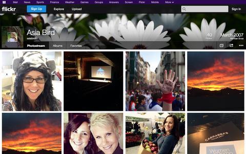 Screenshot of Flickr Page flickr.com - Flickr: asiabird01's Photostream - captured Nov. 3, 2014
