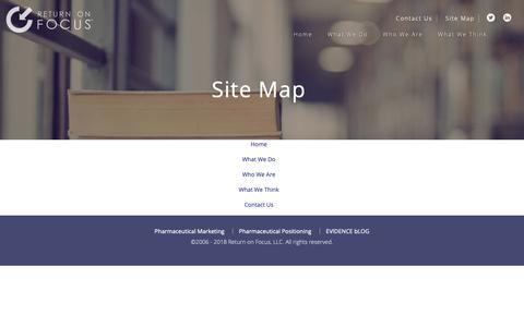 Screenshot of Site Map Page returnonfocus.com - Site Map - Return On Focus - Return on Focus - captured Oct. 20, 2018