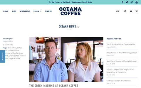 Screenshot of Press Page oceanacoffee.com - Oceana News – Oceana Coffee Roasters - captured Sept. 20, 2018