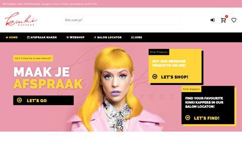 Screenshot of Home Page kinki.nl - Kinki Kappers - Maak je afspraak bij je favoriete kapper online! - captured Oct. 15, 2018