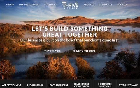Boise Web Design, Idaho Website Designs   Thrive Web Designs