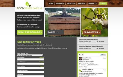 Screenshot of Contact Page boomvandezaak.nl - Contact | Neem vrijblijvend contact met ons op - captured Oct. 4, 2014