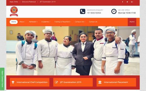Screenshot of Home Page gnihm.ac.in - GNIHM- Best Hotel Management College in Kolkata - Guru Nanak Institute of Hotel Management - captured Sept. 30, 2018