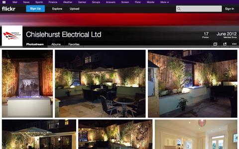 Screenshot of Flickr Page flickr.com - Flickr: Chislehurst Electrical Ltd's Photostream - captured Oct. 22, 2014