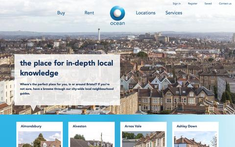 Screenshot of Locations Page oceanhome.co.uk - Ocean Location Guides - captured Dec. 6, 2016