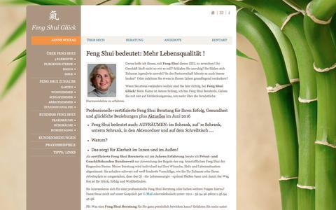 Screenshot of Home Page feng-shui-glueck.com - Feng Shui bedeutet: Mehr Lebensqualität ! - Feng Shui Glück - captured June 11, 2016