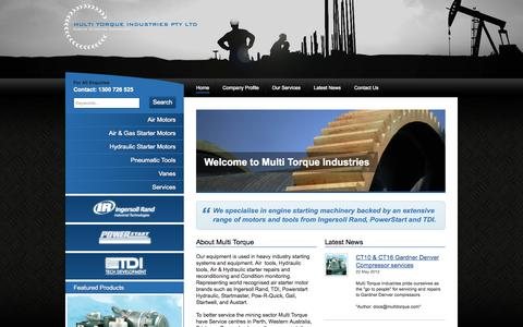 Screenshot of Home Page multitorque.com - Multi Torque Industries - Engine Starting Specialist - Perth - captured Oct. 6, 2014