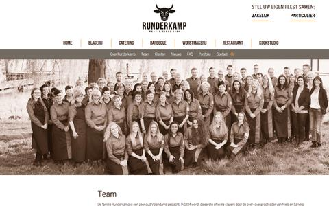Screenshot of Team Page runderkamp.nl - Team | Runderkamp.nl - captured June 15, 2017