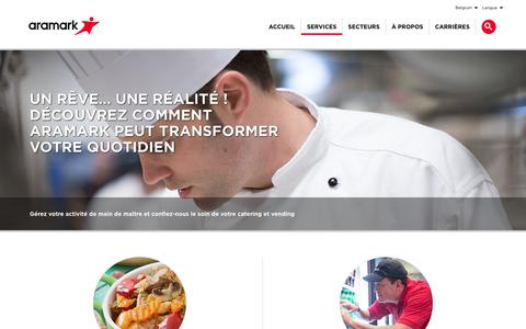 Screenshot of Services Page aramark.be - Services | Aramark - captured Oct. 23, 2018