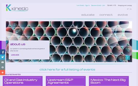 Screenshot of Home Page becomekinetic.com - Become Kinetic - captured Oct. 6, 2014