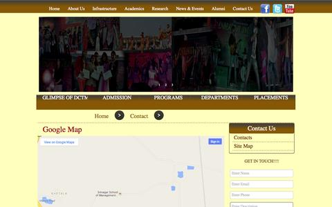 Screenshot of Site Map Page dctm.edu.in - Welcome To Dctm - captured Oct. 5, 2014