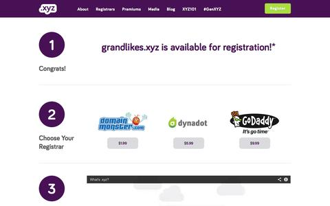 Screenshot of About Page Site Map Page gen.xyz - Success | .xyz Domain Names | Join Generation XYZ - captured Oct. 30, 2014