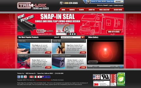 Screenshot of trimlok.com - Trim Lok - #1 Source for Plastic and Rubber Trims and Seals - captured Oct. 22, 2014