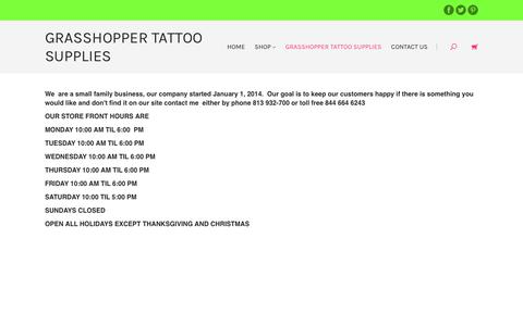 Screenshot of About Page discounttattoosupplies.com - Grasshopper Tatt Supplies | Grasshopper Tattoo Supplies - captured Oct. 12, 2017