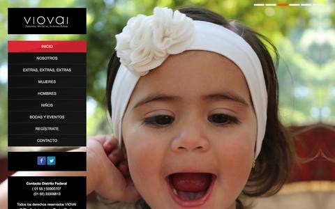 Screenshot of Home Page viovai.com - Agencia de Modelos  | VioVai - captured Jan. 11, 2016