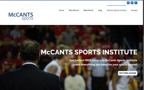Screenshot of Signup Page mccantssports.com - McCants Sports Institute - McCANTS SPORTS - captured Nov. 28, 2016