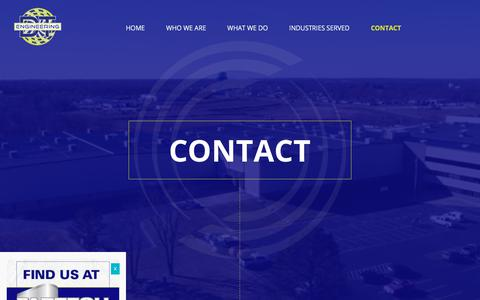 Screenshot of Contact Page dtengineering.com - Contact - DTE, Inc. - captured Oct. 11, 2017