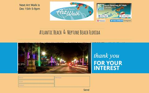 Screenshot of Contact Page nbaw.org - North Beaches Art Walk | CONTACT - captured Nov. 30, 2016