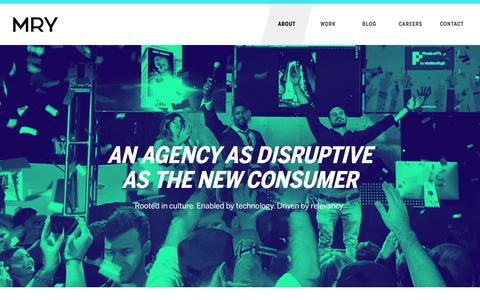 Screenshot of About Page mry.com - A Creative Marketing Agency Built for the New Consumer | About MRY - captured July 15, 2017