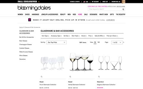 Stemware, Glassware & Barware | Luxury Drinkware - Bloomingdale's