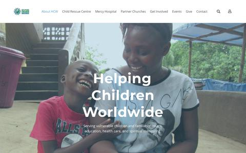 Screenshot of Home Page helpingchildrenworldwide.org - Helping Children Worldwide - Helping Children Worldwide - Home - captured July 18, 2018