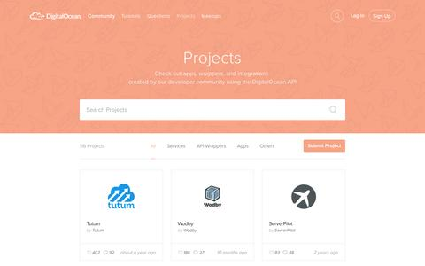 Screenshot of digitalocean.com - Projects | DigitalOcean - captured March 19, 2016